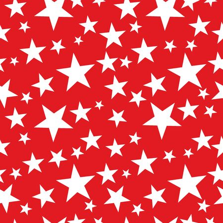 Seamless Christmas star wrapping paper pattern.
