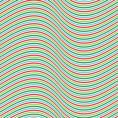 Seamless Christmas pinstripe wave pattern background 일러스트