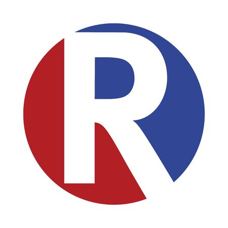 R logo icon in vector format. 일러스트