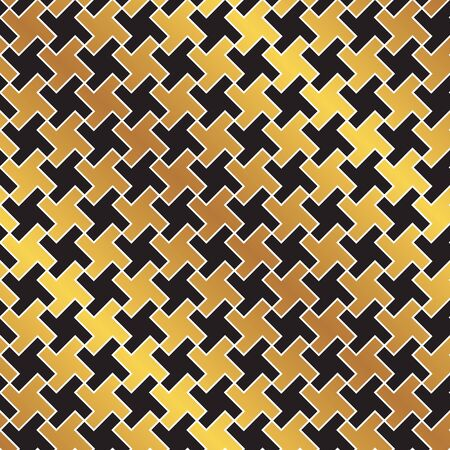 Seamless golden weave pattern background. Ideal for gift wrapping paper. 일러스트