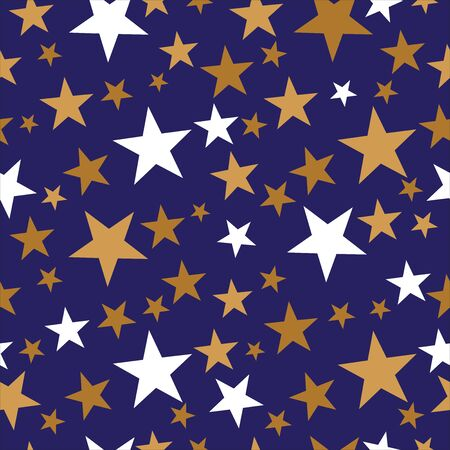 Seamless Christmas star wrapping paper pattern