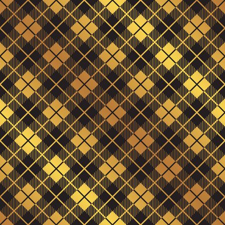 Seamless golden cube pattern texture background 일러스트