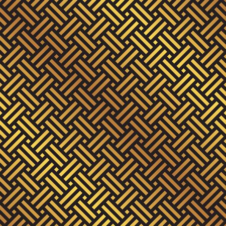 Seamless gold and black weave pattern background