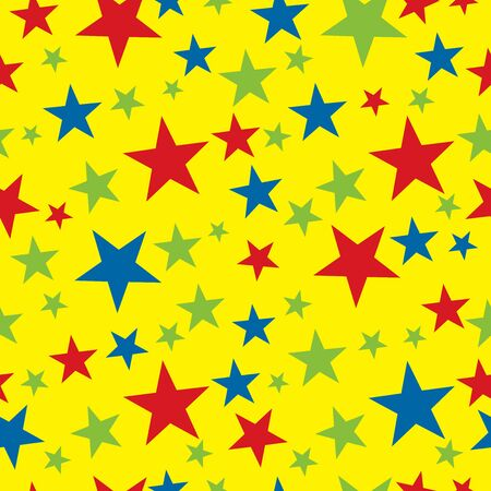 Seamless star wrapping paper pattern 일러스트