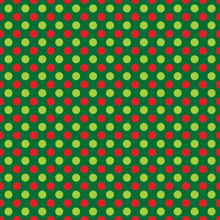 Seamless Christmas dot wrapping paper pattern