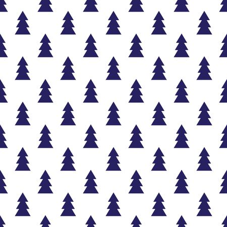 Seamless Christmas wrapping paper pattern. Christmas tree pattern background.