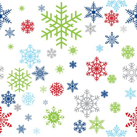 Seamless Christmas snowflake wrapping paper pattern