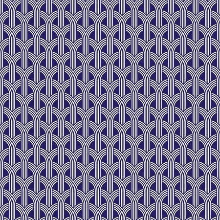 Seamless Japanese decorative pattern background Ilustração