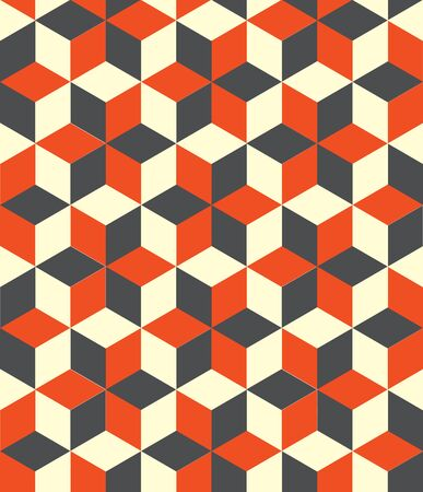Seamless 3d cube pattern background texture