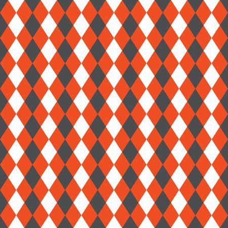 Seamless argyle pattern background. Red, black and white pattern. Ilustração