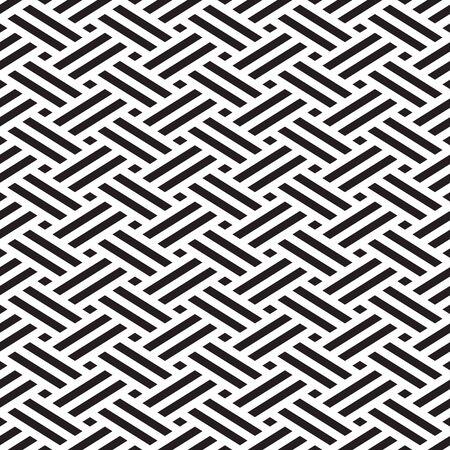 Seamless weave pattern geometric background Ilustração
