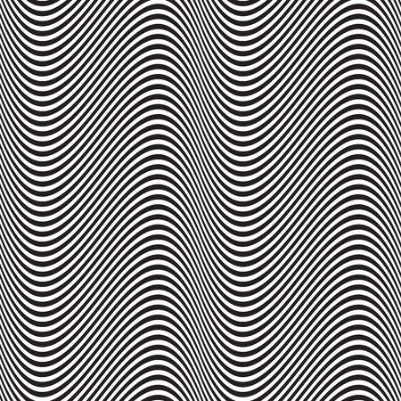 Seamless wave stripe abstract geometric pattern