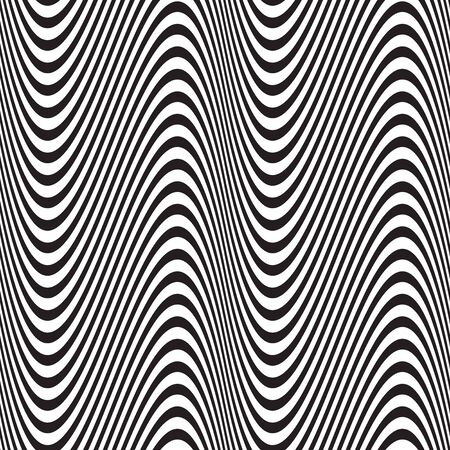 Seamless wave stripe abstract geometric pattern