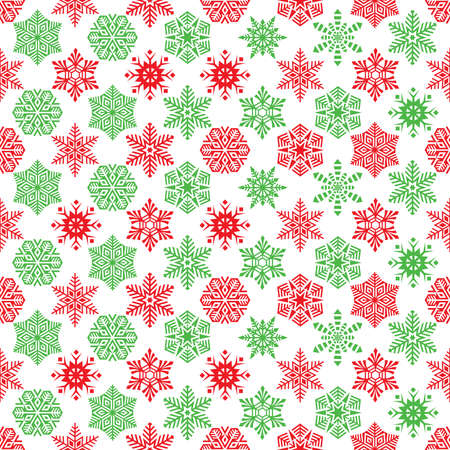 Seamless Christmas Snowflake Gift Wrapping Paper Pattern