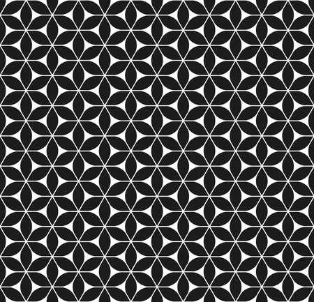 Seamless abstract geometric flower pattern. Ilustração