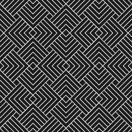 Seamless Art Deco vector pattern in black and white Ilustração