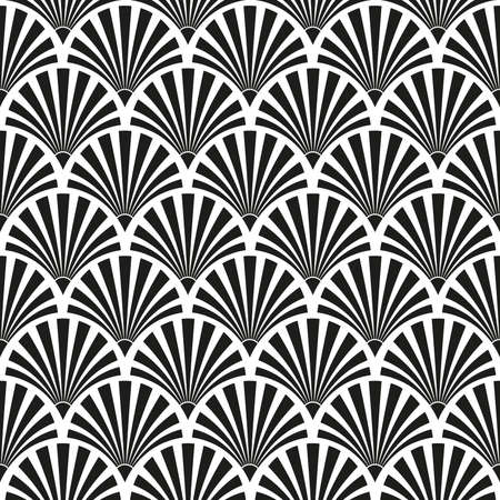 Seamless Art Deco sunburst pattern