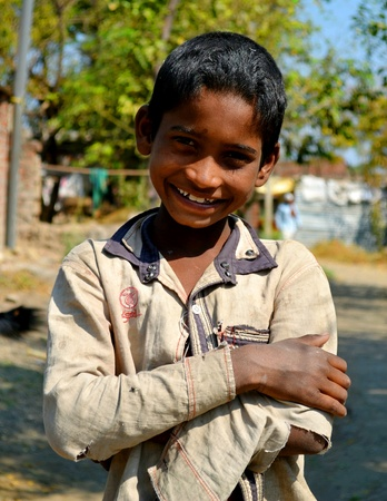 Indian village smily face child