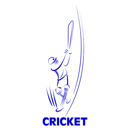 illustration of Cricket batsman