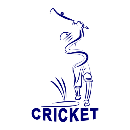 illustration of cricket