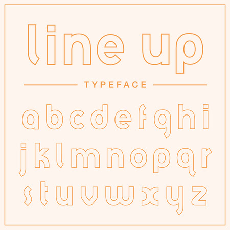 Line Up. Super thin outline display typeface.