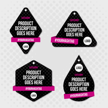 Product label swing tag design.