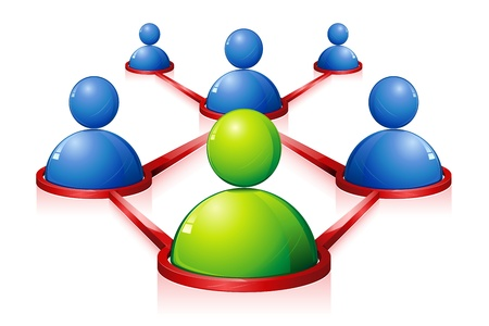 global networking: Red humana Vectores