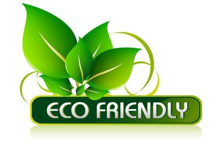 conciencia ambiental: Icono de Eco Friendly