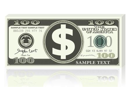 letra de cambio: Nota de d�lar Vectores