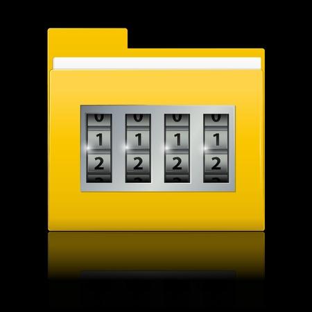 locked folder Stock Vector - 8778224