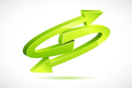 Recycle Arrow Stock Vector - 8778206