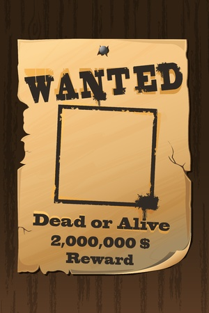 Vintage Wanted Poster Stock Vector - 8778235