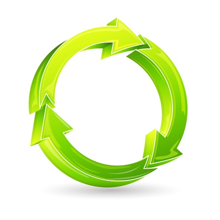 illustration of recycle arrow on isolated background Stock Vector - 8778261