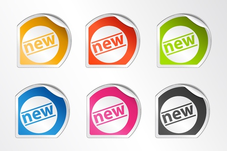 illustration of set of different new tags on white background illustration