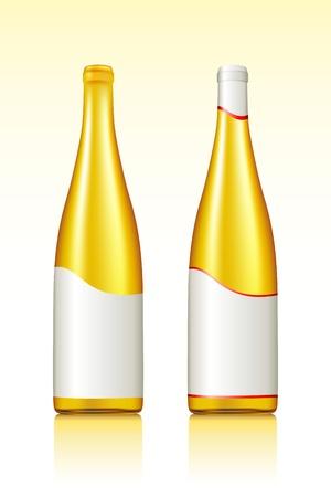 illustration of wine bottles on gradient background Vector