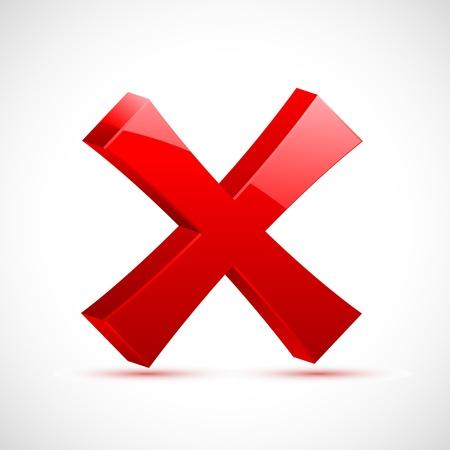cruz roja: Ilustraci�n de la marca de Cruz Roja sobre fondo aislado Vectores