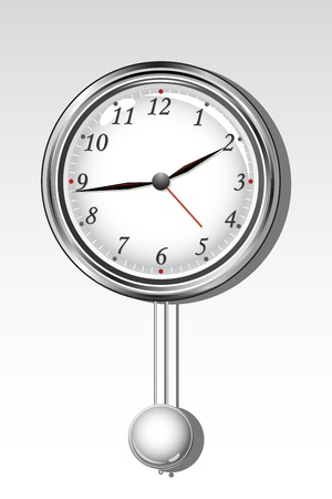 illustration ofalarm clock on isolated white background Vector