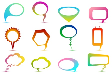 illustration of set of colorful speech bubble on isolated background Stock Vector - 8778270