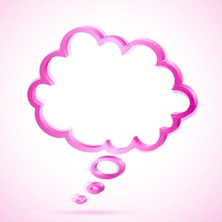 Illustration de la bulle des discours sur fond abstraite