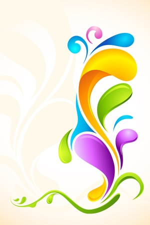 swirl composition: illustration of Colorful Floral Background