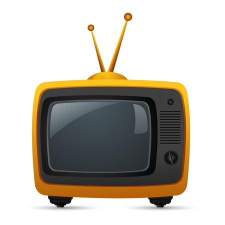 illustration of television on isolated white background Stock Vector - 8962237