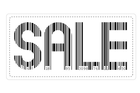 illustration of sale made of barcode sticker on isolated background Stock Vector - 8919516