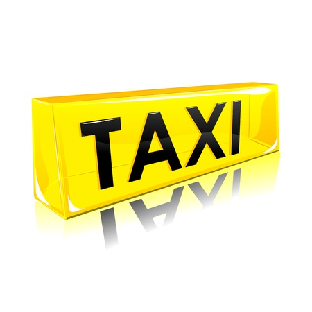fare: illustration of taxi symbol on isolated background
