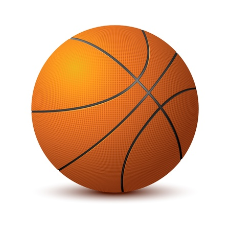 illustration of basketball on isolated white background Vector