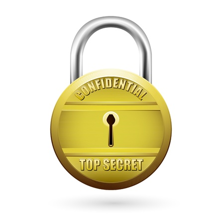 illustration of padlock showing security on isolated background Stock Vector - 8920012