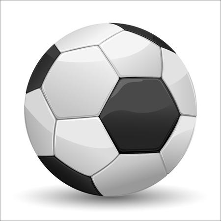 football ball: illustration of soccer ball kept on plain white background Illustration