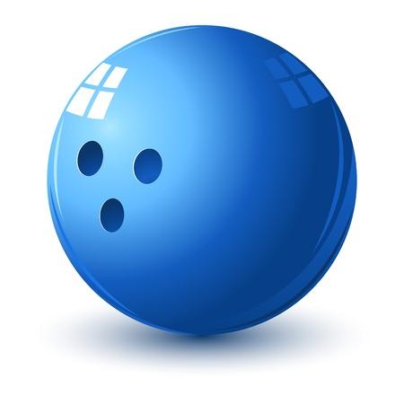 illustratie van glanzende bowling bal op geïsoleerde witte achtergrond