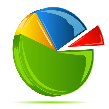 illustration of pie chart on white background Stock Vector - 8920718