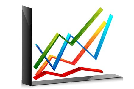 illustration of line graph on an isolated background Vector