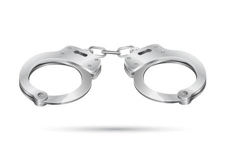 burglar: illustrazione di manette su sfondo astratta vector Vettoriali